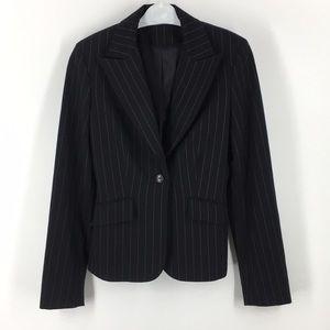 Express Black Pinstriped Blazer